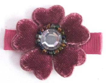 Image Velvet Flower Clippie