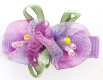 Image Double  Tye Dye Chiffon Flower Clippie