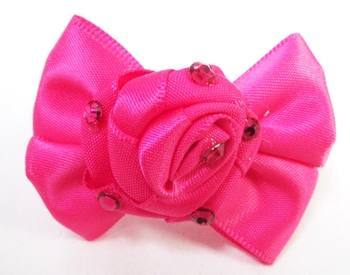 Image Satin Bow with Rose Pony