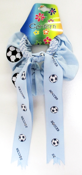 Image Soccer Scrunchie and Soccer Pony