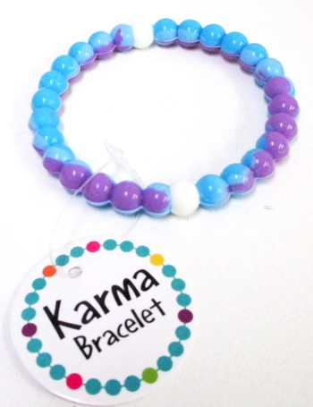 Image Karma Tye Dye Pink Blue Bracelet