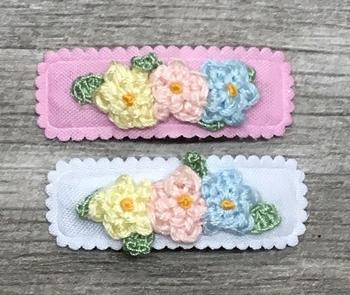 Image Crochet Triple Flower Snappy