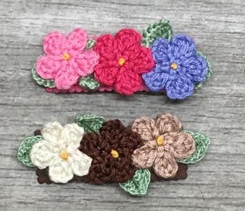 Image Triple Crochet Flower Snappy