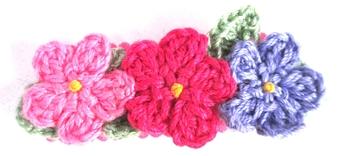 Image Triple Crochet Flower Snappy