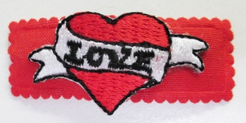 Image Love Embroidery Patch Snappy