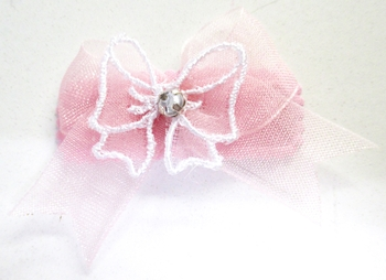 Image Chiffon bow with Chiffon Bow Applique Snappy