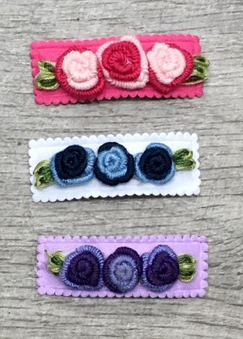 Image Triple Yarn Flower Snappy