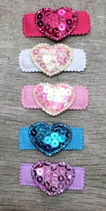 Image Sequin Heart Snappy