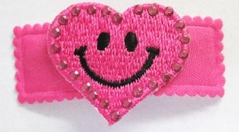 Image Rhinestone Heart Smiley Snappy