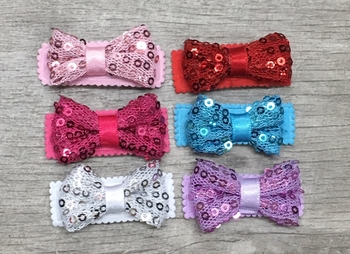 Image Sequin Bow Snappy