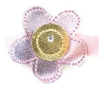 Image Metallic Flower Clippue