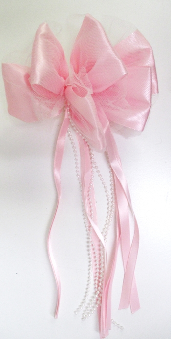 Image Satin Loopy Bow with Streamers on French Clip