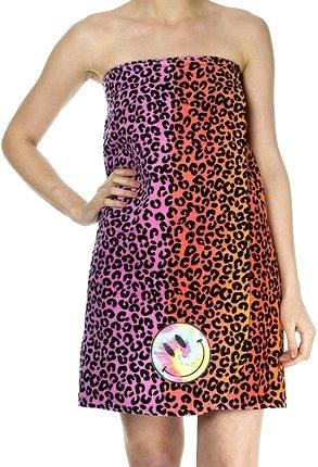 Image Rainbow Leopard Shower Towel Wrap