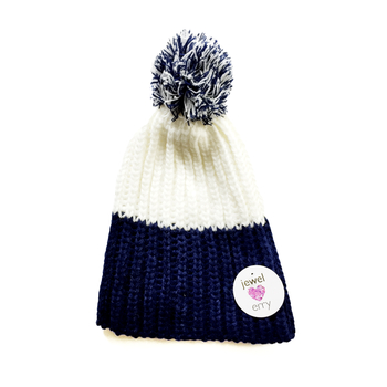 Image Blue & White Knit Hat
