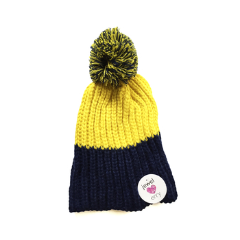 Image Yellow & Blue Knit Hat