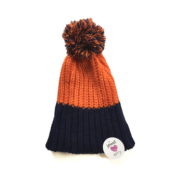 Image Blue & Orange Knit Hat