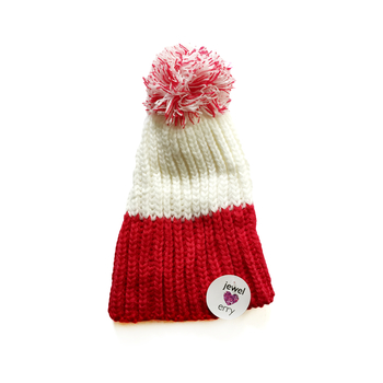 Image Red & White Knit Hat