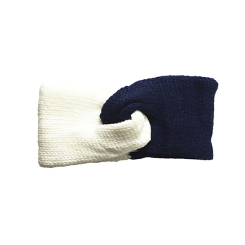 Image Blue & White Knit Headband