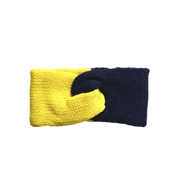 Image Blue & Yellow Knit Headband