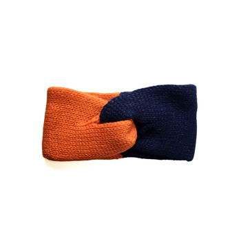 Image Blue & Orange Knit Headband