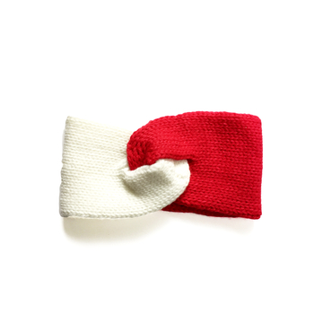 Image Red & White Knit Headband