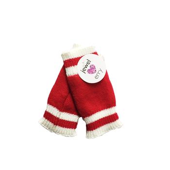 Image Red & White Finger-less Gloves