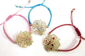Image Large Hamsa Triple Bracelet