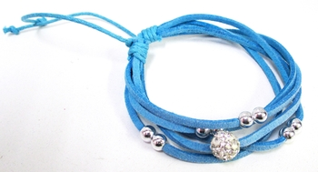 Image Suede Shamballa Bracelets