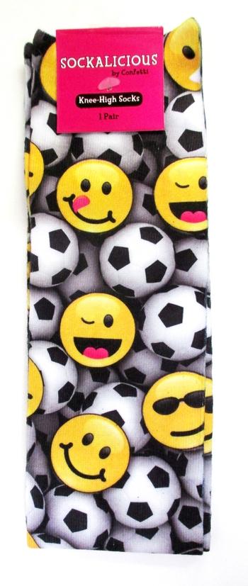 Image Soccer Emoji Knee Socks