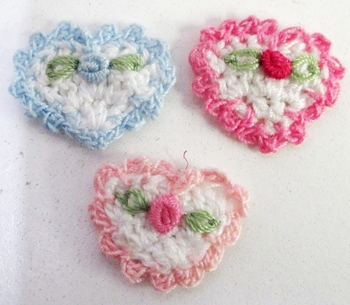 Image Crochet Heart Velcro