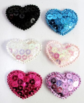 Image Sequin Heart Velcro