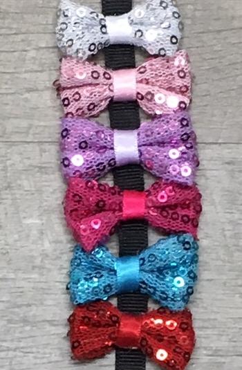 Image Sequin Bow Velcro