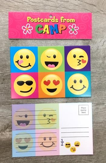 Image Color Block Smile Postcard Set