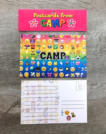Image Multi Smile Icon Camp Postcard Set