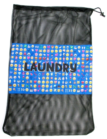 Image Multi Blue Icons Laundry Bag