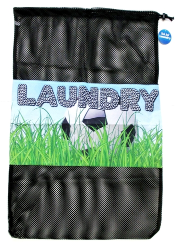 Image Soccer Field Laundry Bag