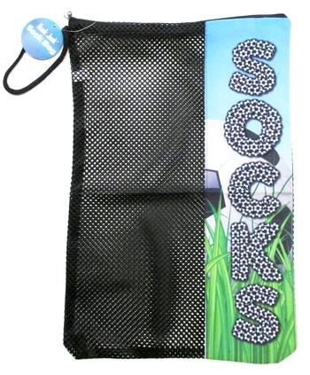 Image Soccer Field Zipper Sock Bag