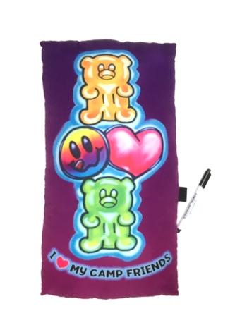 Image I Love My Camp Friends Gummy Bear Pillow