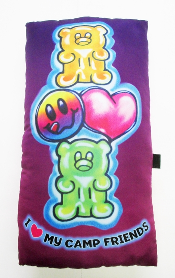 Image I Love My Camp Friends Gummy Bear Pillow
