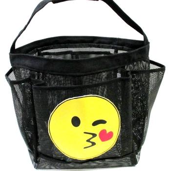 Image Emoji Kissy Face Shower Caddy