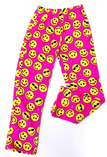 Image Pink Smiley Fuzzie Pant