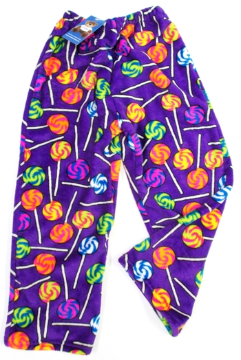 Image Purple Lollipops Fuzzie Pant