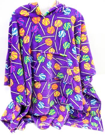 Image Purple Lollipop Fuzzie Poncho