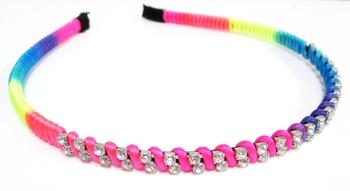 Image Rainbow Rhinestone Headband