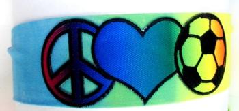 Image Peacel Love Soccer Microfiber Headwrap