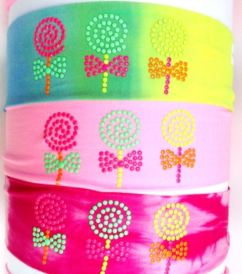 Image Neon Lollipops on Small Microfiber Headwraps