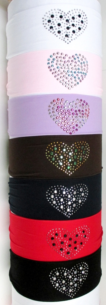 Image Large Multi Heart Microfiber Headwrap