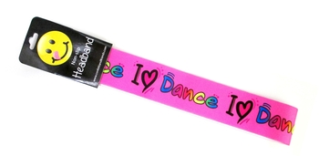 Image No Slip Headwrap I Love Dance