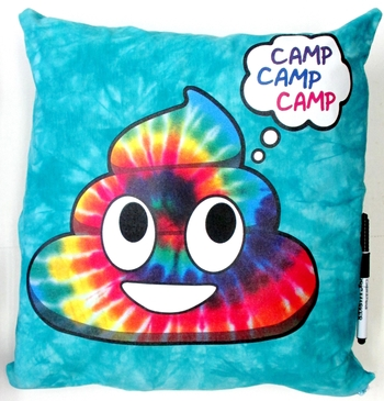 Image Camp Rainbow Poop Autograph Pillow