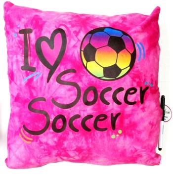 Image I Love Soccer Autograph Pillow